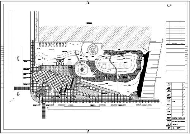 江苏某公园景观设计cad施工图-图一