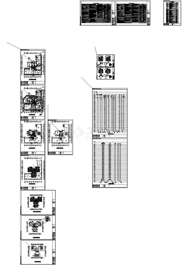 南京高层住宅小区给排水施工CAD图纸设计-图一