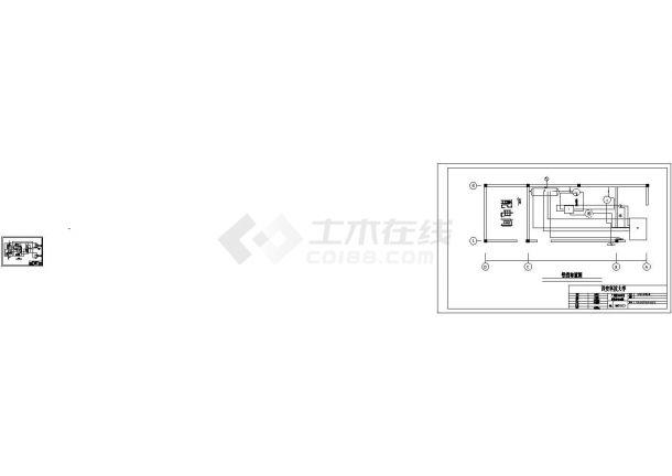 [学士]广州某200吨低温冷藏库制冷系统cad图纸(含设备安装图,设备明细表)-图一