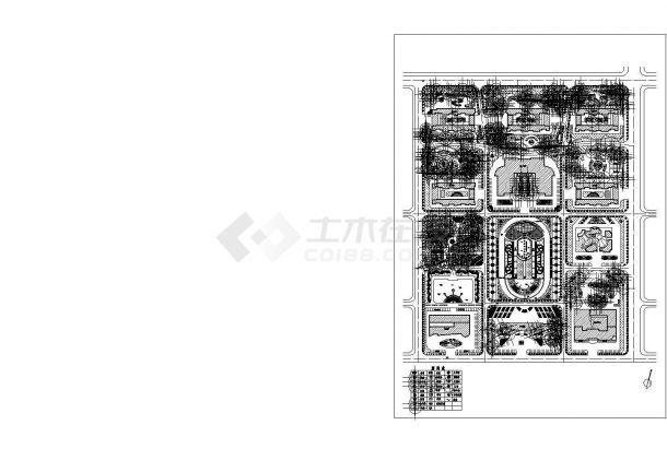 某地区厂区总体植物配置详细方案设计施工CAD图纸-图一