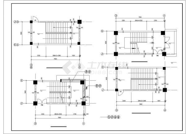 厂房设计_5层9522.2平米现代厂房建施【平立剖 门窗楼梯卫生间大样】CAD设计施工图纸-图二