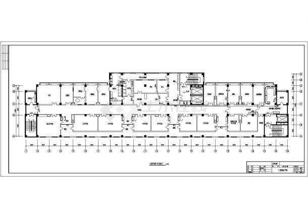 某医院多层综合楼弱电系统设计cad全套施工图(含设计说明)-图一