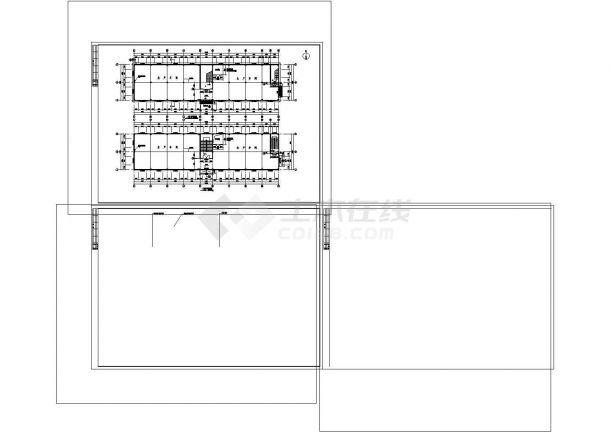 厂房设计_某塑料厂房建筑施工图非常标准CAD图纸设计-图一
