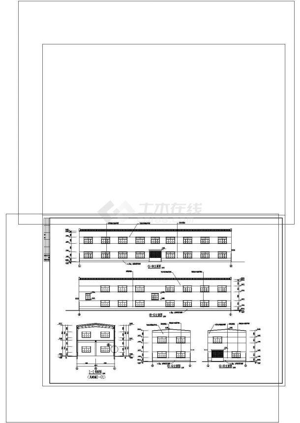 厂房设计_某塑料厂房建筑施工图非常标准CAD图纸设计-图二
