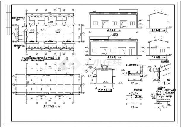 厂房设计_生产厂房建筑施工图cad图纸-图一