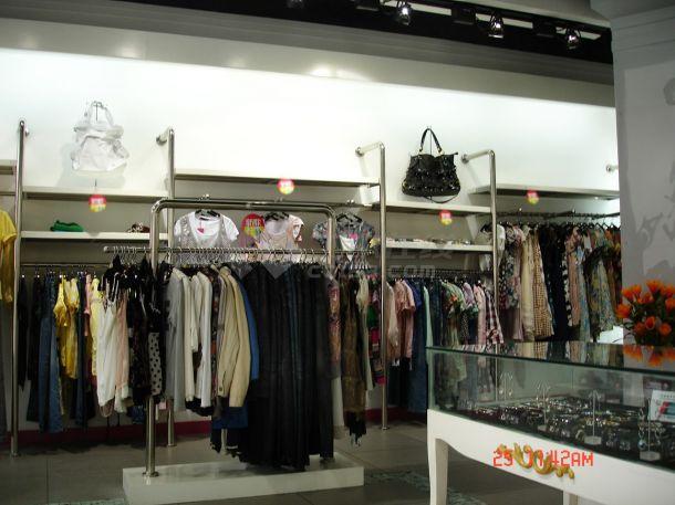 某品牌女装店时尚风格室内装修设计cad全套施工图(含效果图)-图二