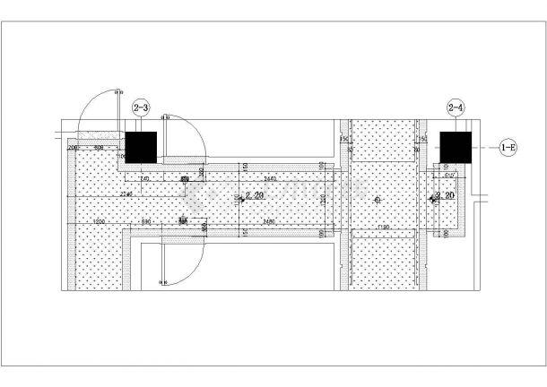 [安徽]某休闲中心桑拿会所室内装修设计cad全套施工图(含效果图)-图二