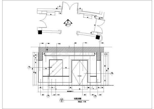 某现代豪华会所室内装修设计cad全套施工图-图一