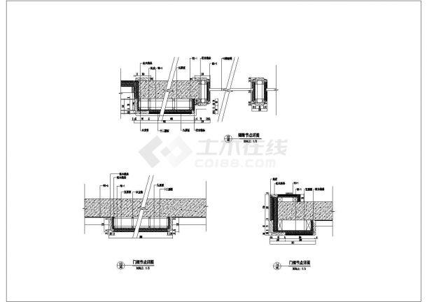 某现代豪华会所室内装修设计cad全套施工图-图二
