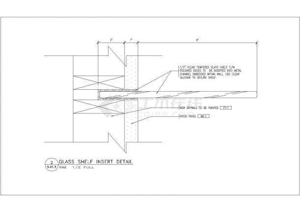 某现代美容美发厅室内装修设计cad全套施工图纸( 英文标注)-图一