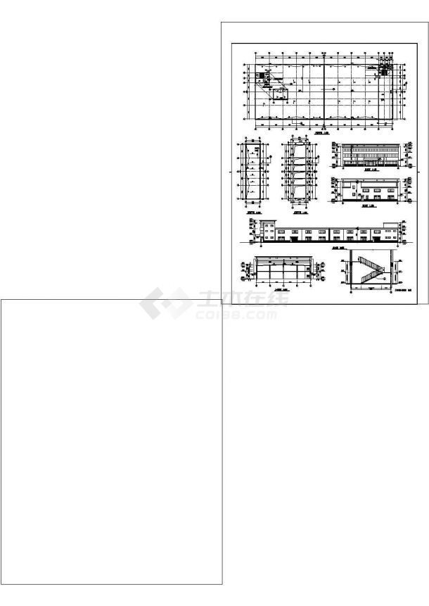 厂房设计_正基厂房建筑施工图非常标准CAD图纸设计-图一