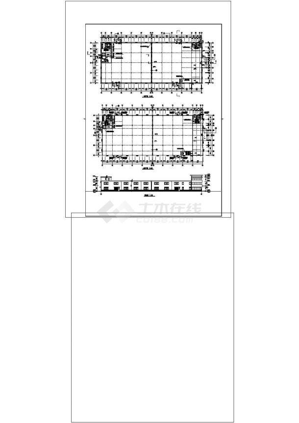 厂房设计_正基厂房建筑施工图非常标准CAD图纸设计-图二