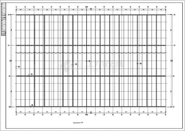 厂房设计_单层6510平米排架结构马鞍形壳板厂房建筑施工图【平立剖 说明】CAD设计施工图纸-图一
