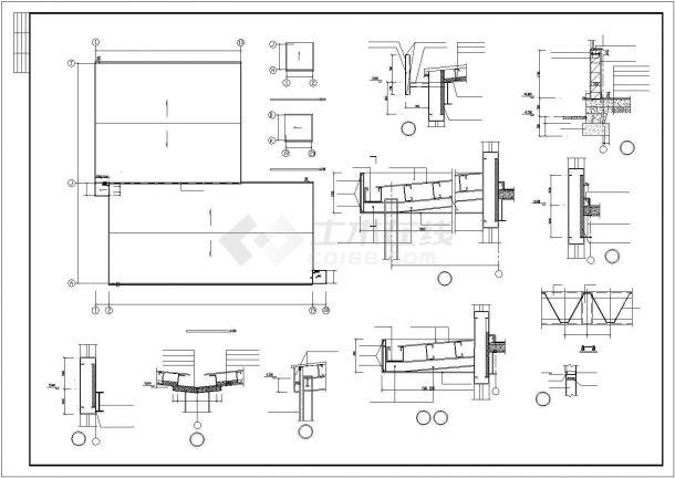 厂房设计_2层15300平米大型轻钢结构厂房建筑施工图【平立剖 节点大样 设计说明】CAD设计施工图纸-图二