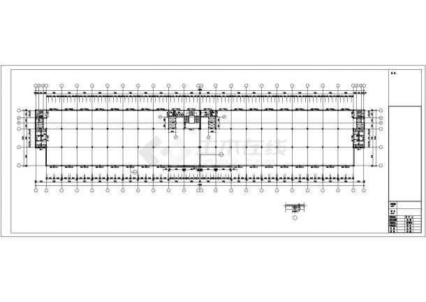 厂房设计_5层工业园厂房建筑施工图【平立剖 门窗 卫生间放大平面 节点详图】CAD设计施工图纸-图一