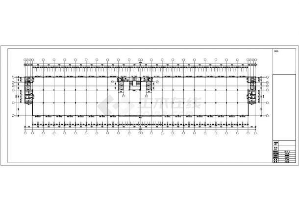 厂房设计_5层工业园厂房建筑施工图【平立剖 门窗 卫生间放大平面 节点详图】CAD设计施工图纸-图二