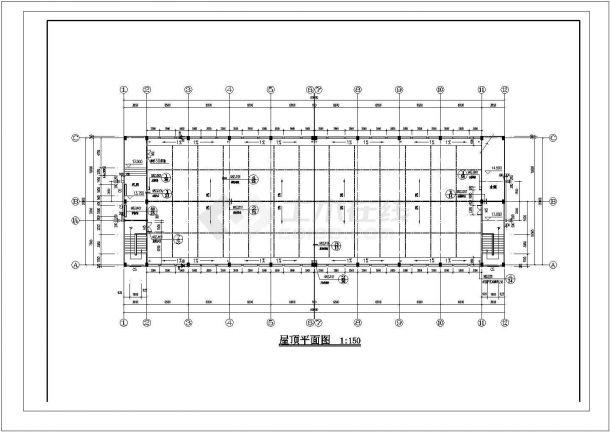 厂房设计_某厂房建筑施工图cad图纸-图二