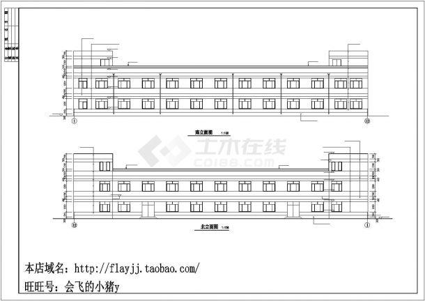 厂房设计_3层726平米框架结构木业公司厂房建筑施工图【平立剖 总平 卫详 说明】CAD设计施工图纸-图一