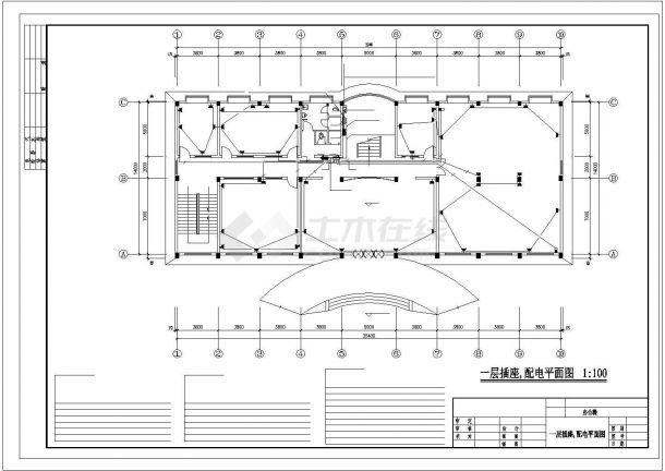 办公楼设计_五层办公楼电气施工图纸.cad-图二