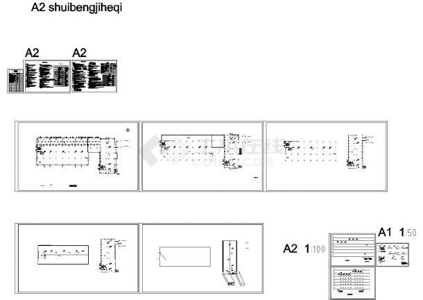 [安徽]工业园区厂房建筑群给排水消防施工图cad施工图设计-图一