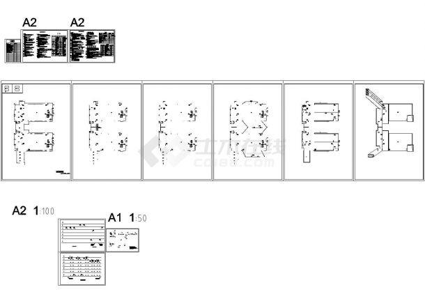 [安徽]工业园区厂房建筑群给排水消防施工图cad施工图设计-图二