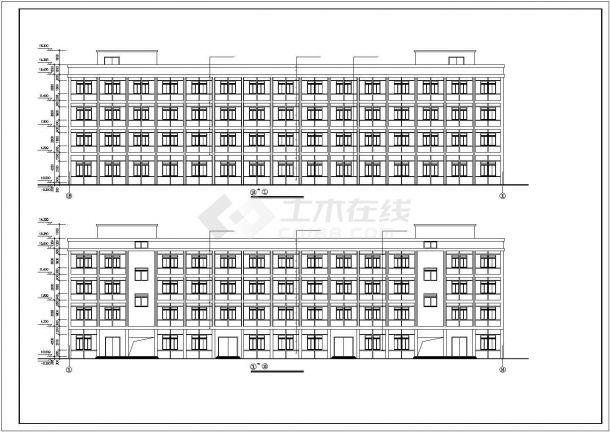 厂房设计_4层针织厂房建筑施工图【平立剖 楼梯 节点大样】CAD设计施工图纸-图一