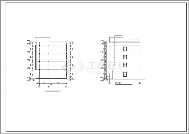 厂房设计_4层针织厂房建筑施工图【平立剖 楼梯 节点大样】CAD设计施工图纸-图二