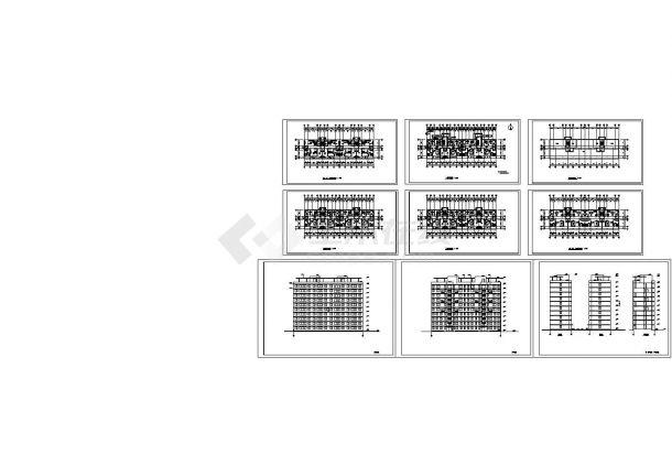 某十层板式住宅建筑设计方案图-图一