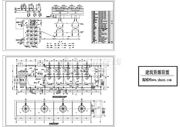 某电厂循环水泵房平面布置图cad施工图设计-图一