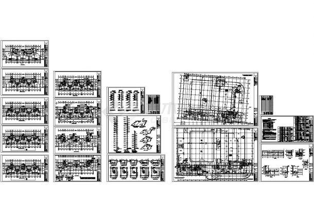 商住楼及车库采暖通风设计CAD图纸-图一