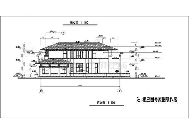某地一套大型别墅结构设计施工图纸-图一