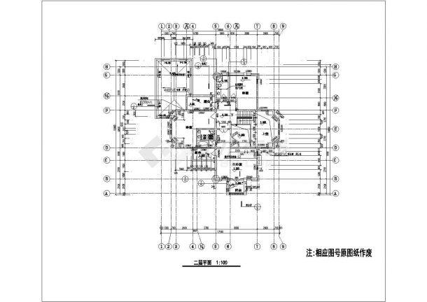 某地一套大型别墅结构设计施工图纸-图二