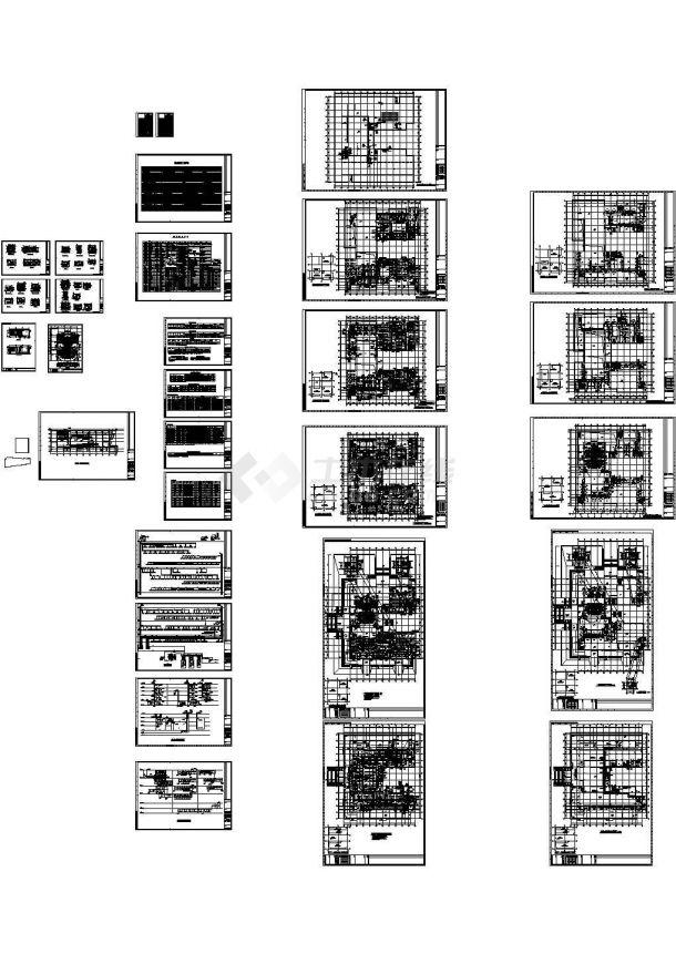 四层综合楼暖通空调通风消防排烟系统设计施工图(cad)-图二