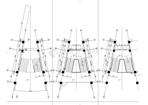 某地校区教学综合楼设计施工图纸-图二