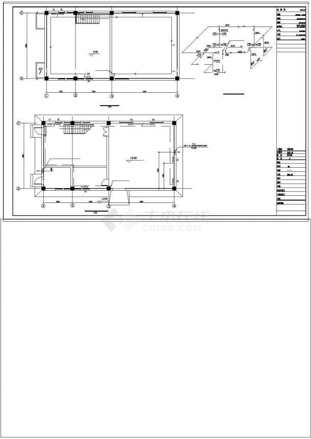 某小区供热锅炉房设计cad施工图纸-图一