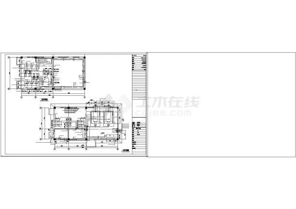 某小区供热锅炉房设计cad施工图纸-图二