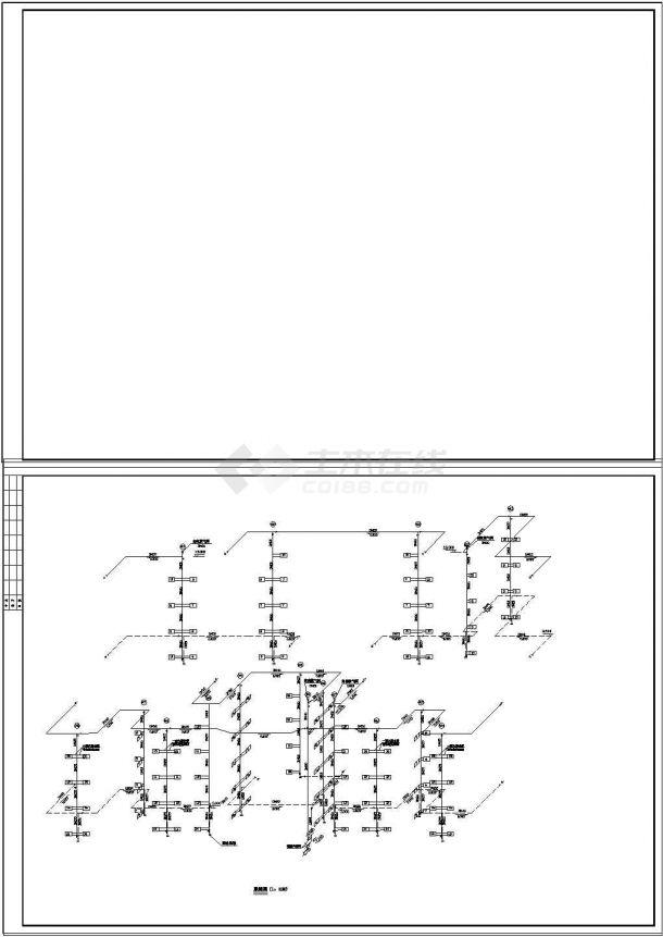 某住宅楼采暖系统设计方案cad图纸-图二