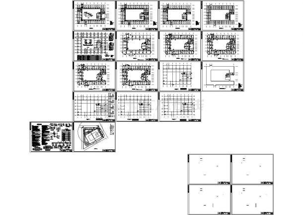 某多层框架结构商业办公楼毕业设计cad全套建筑施工图(含实习报告,任务书,含结构设计,含计算书,含施工组织设计)-图二
