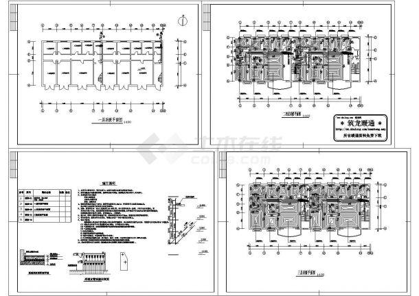 地板采暖暖通施工设计图纸-图二