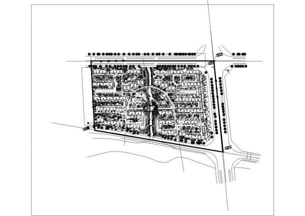 某城市小区建筑方案规划及景观设计施工CAD图纸-图一