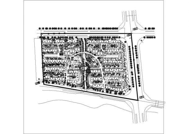 某城市小区建筑方案规划及景观设计施工CAD图纸-图二