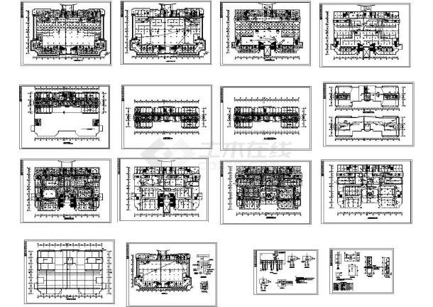 某五星级酒店电气设计强电部分(16张图纸)-图一