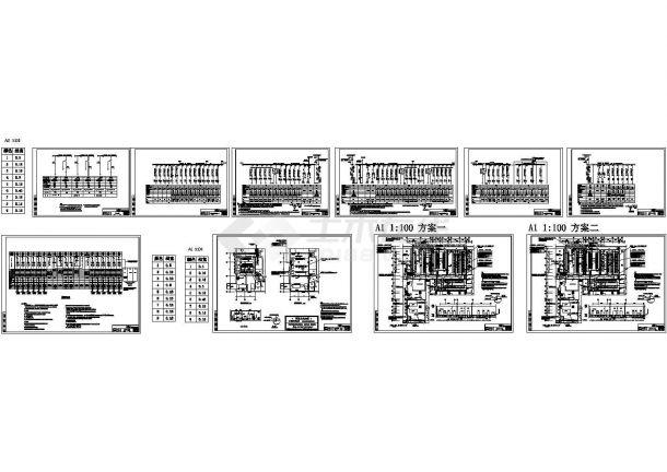 高低压配电系统施工图(全套系统图)包含着地下一层电力干线平面-图一