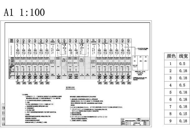 高低压配电系统施工图(全套系统图)包含着地下一层电力干线平面-图二