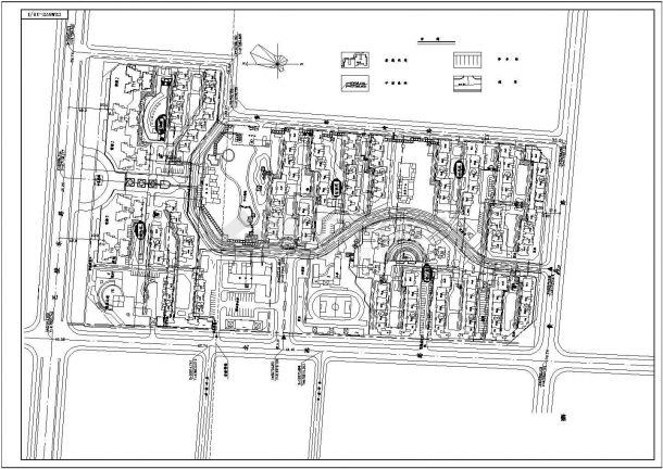 某长方形地块高级住宅小区规划设计cad总平面布置图(甲级院设计)-图一