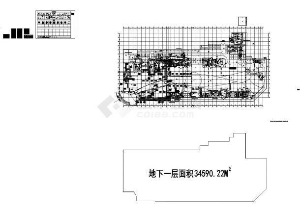 [江西]某19万平商业综合楼通风空调及防排烟系统设计施工图-图一