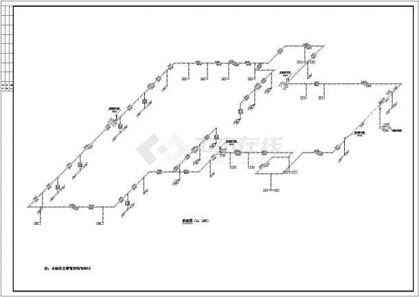 某住宅楼采暖系统cad设计方案图纸(甲级院设计)-图一