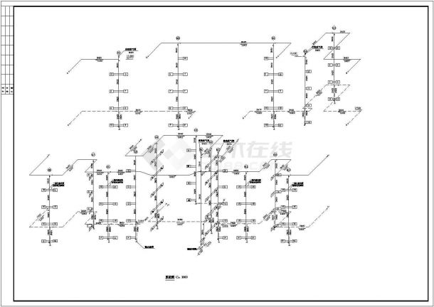 某住宅楼采暖系统cad设计方案图纸(甲级院设计)-图二