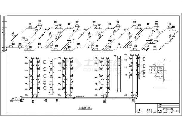 某地多层住宅楼采暖系统cad设计施工图-图一