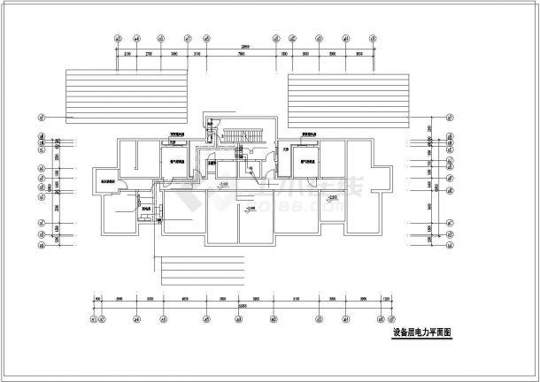 某高层住宅楼电气全套cad设计施工图纸-图一
